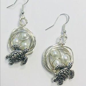 Sea Turtle Nest Earrings